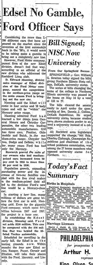May 23, 1957: Rockford Register-Republic