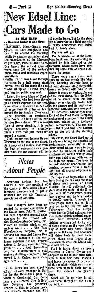 August 28, 1957: Dallas Morning News