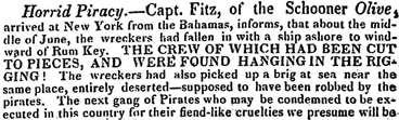 From the Bermuda Gazette (31 Aug 1822)