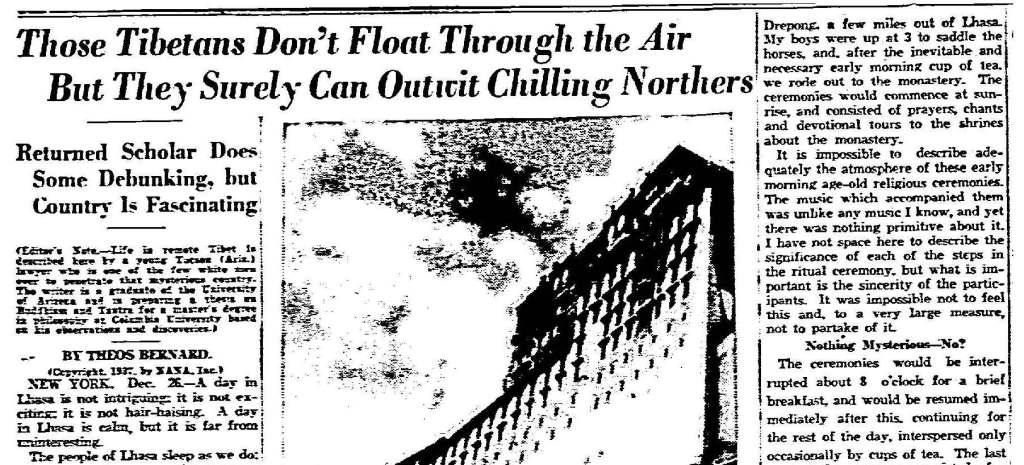 From the Dallas Morning News, 27 December 1937