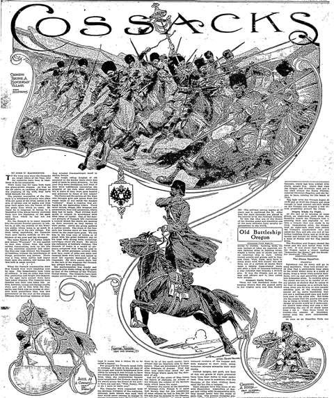 Sunday Oregonian, 1915. From America's Historical Newspapers