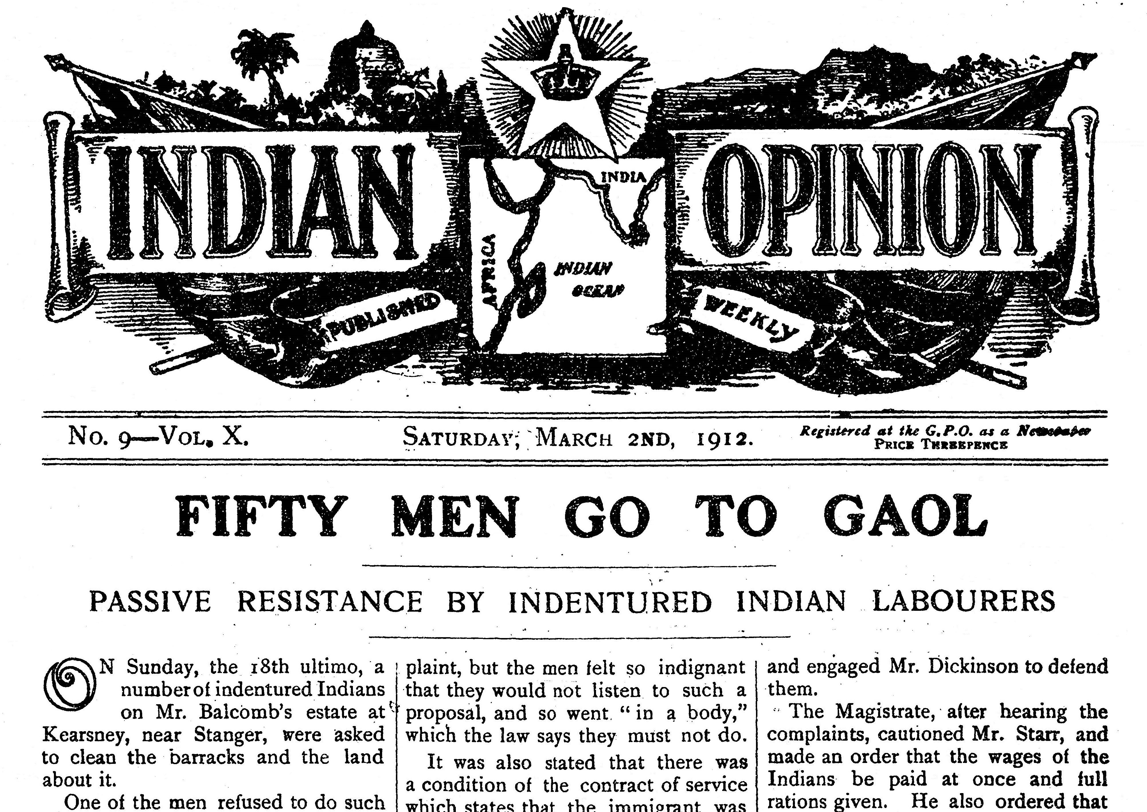 Indian Opinion: The Newspaper Founded by Gandhi in South Africa in ...