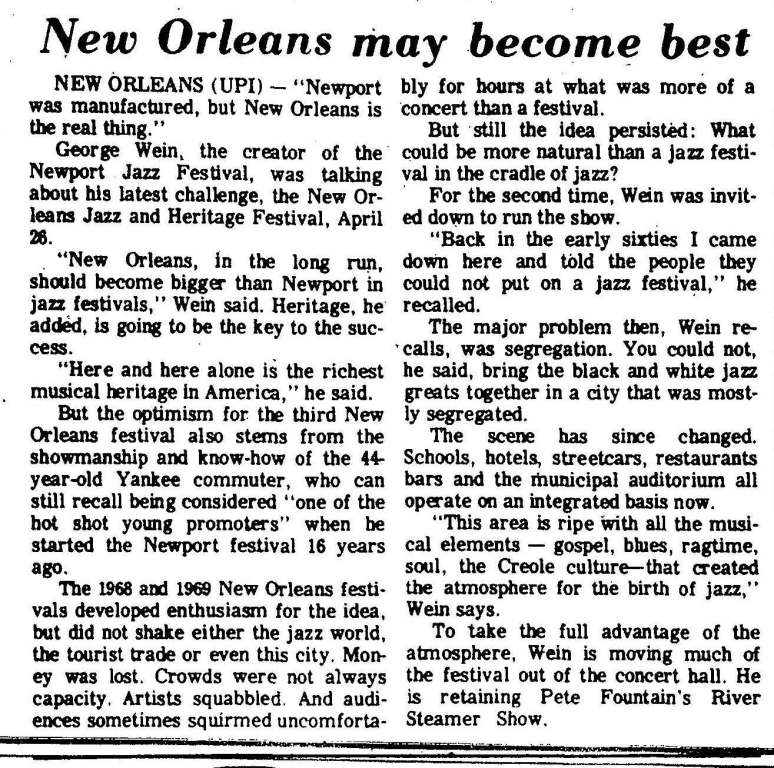 From the Augusta Chronicle (April 15, 1970)