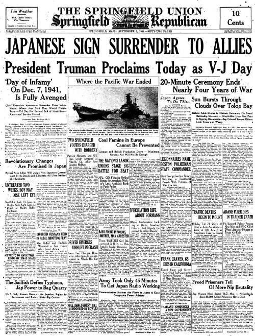World war 2 end date in Australia