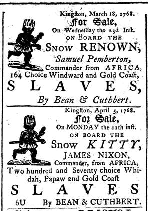 From the Saint Jago Intelligencer (16 April 1768)