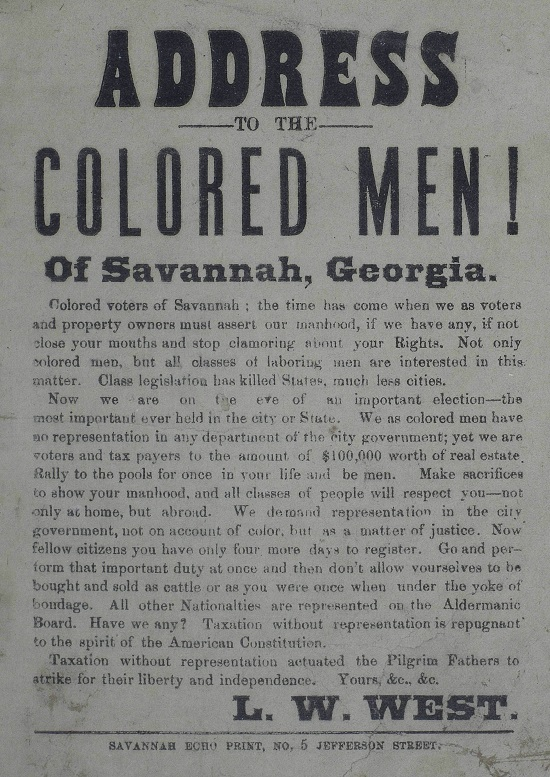 Address_to_the_colored_men_of_Savannah_Georgia__1880 AA&R.jpg