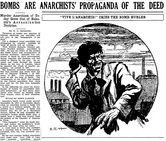 Anarchists' popaganda Kalamzoo Gazette 6-4-1919.jpg