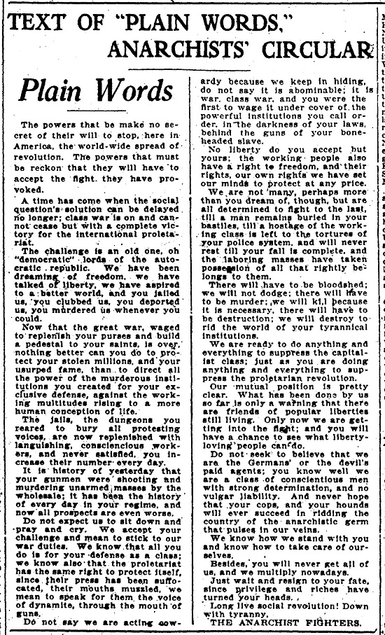 Evening Star 6-3-1919 page 3 Plain Words text.jpg