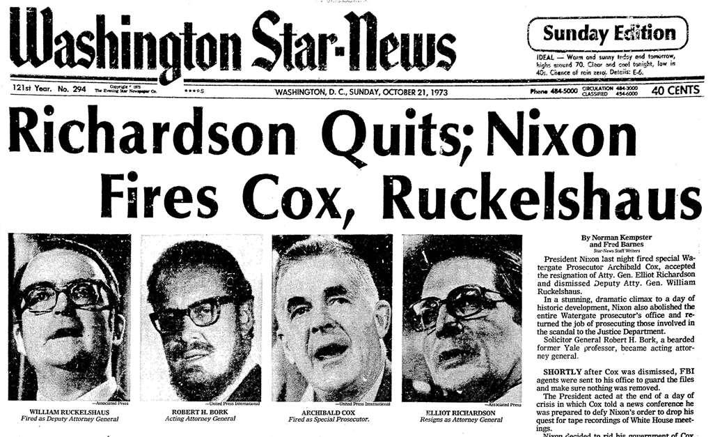 Evening Star, published as Washington Star-News (Washington (DC), District of Columbia) • 10-21-1973 • Page 1.jpg