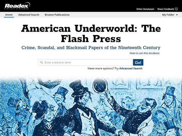 American Underworld interface
