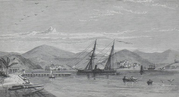 View of St. Thomas, West Indies (from volume above)