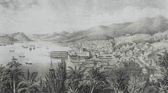 View of St. Thomas, West Indies