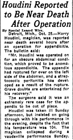 Omaha World Herald (Omaha, Nebraska), 26 October 1926, page 1