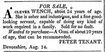 From the Bermuda Gazette (21 August 1819)