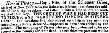 From the Bermuda Gazette (31 Aug 1822)