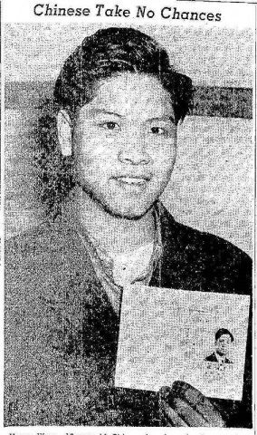 Chinese Americans were given certificates to show that they weren't of Japanese origin. (Click to open article in PDF.)