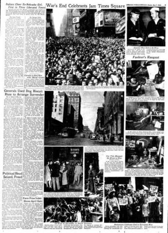 Omaha Evening World-Herald; Date: 05-07-1945
