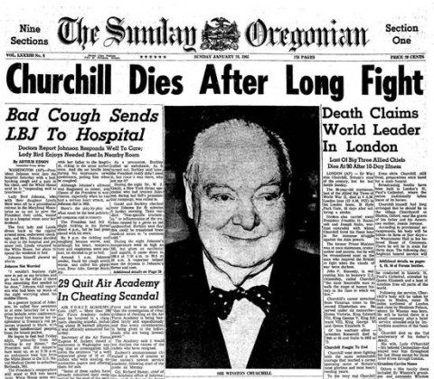 Image result for prime minister winston churchill dies