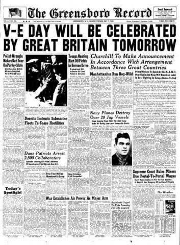 The Greensboro Record; Date: 05-07-1945