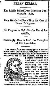 Helen Keller—Child of Adversity, Woman of the World | Readex