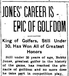 A Sports Legend and His Dream: Bobby Jones, the Augusta
