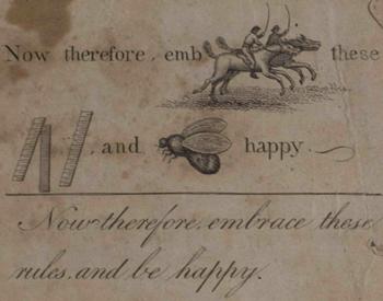 A rebus by Ben Franklin