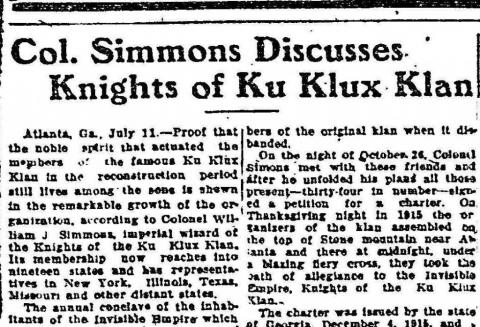 effects of the ku klux klan