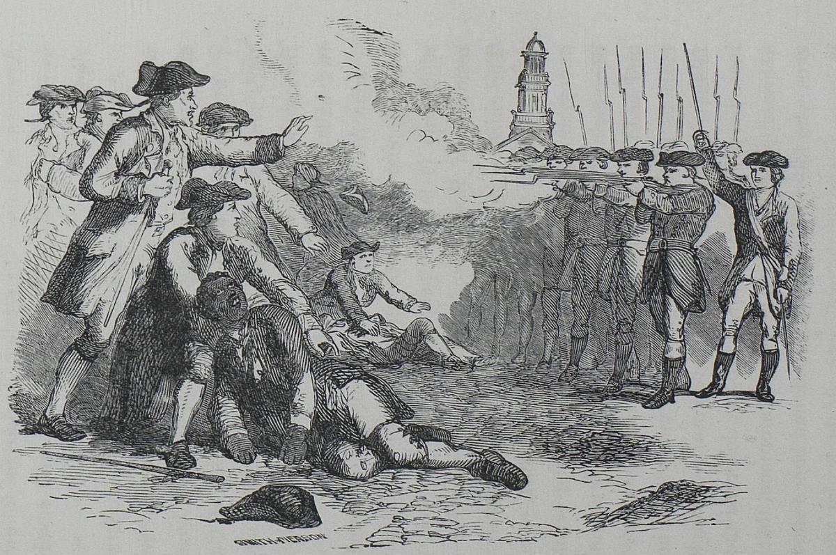 Crispus Attucks, first martyr of the American Revolution