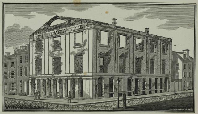 Pennsylvania Hall after its destruction