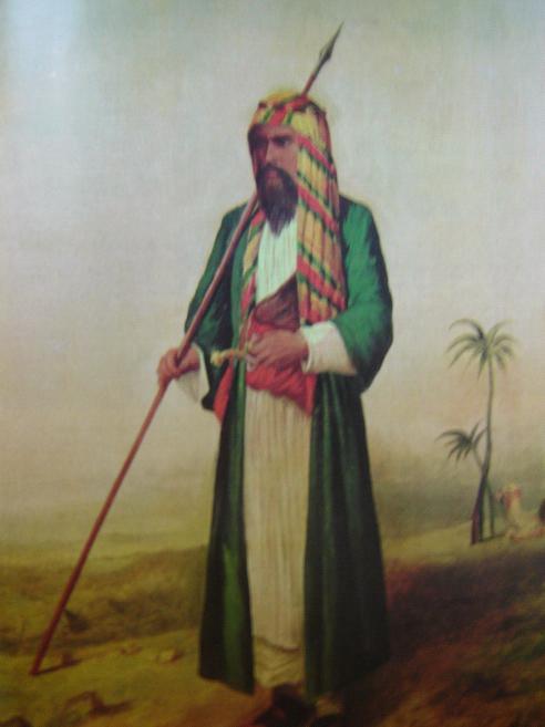 "Burton disguised as ""Haji Abdullah,"" (1853)"