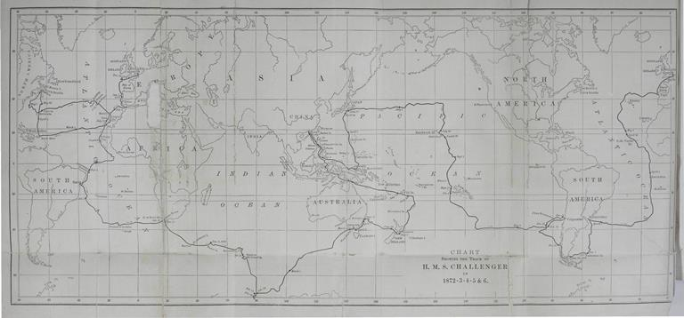 Chart showing track of HMS Challenger (from volume above)