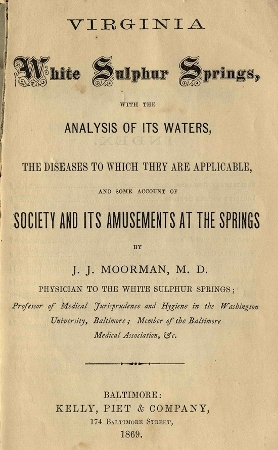 American Mineral Waters, Resorts and Mad Houses: Physical and Mental