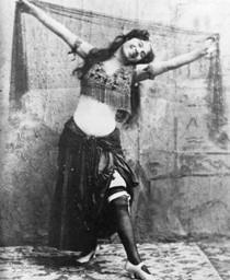 Bellydancer, circa 1893. Photographed by Benjamin Falk.